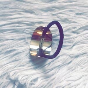 Hair Tie with Gold Buckle